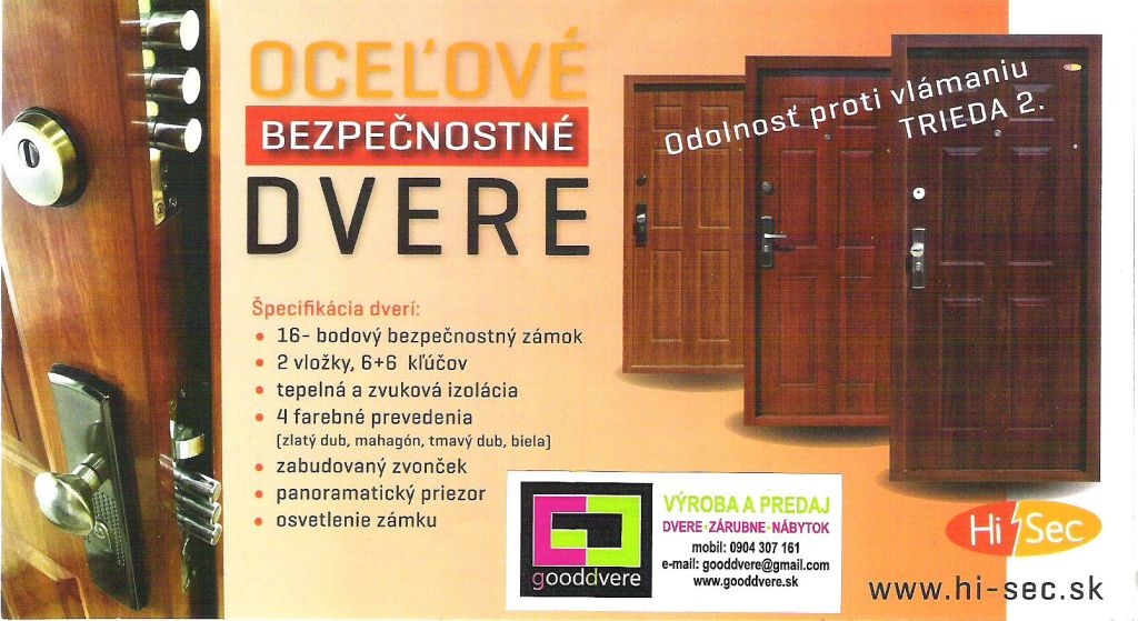 b11b4eec80 HiSec - oceľové bezpečnostné dvere